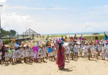 Kite Flying Experiential Learning – KG section and Std 4