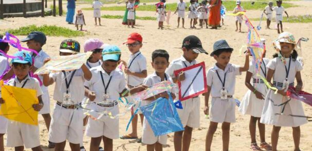 best-cbse-schools-in-guruvayur-Kite Flying Experiential Learning – KG section and Std 4