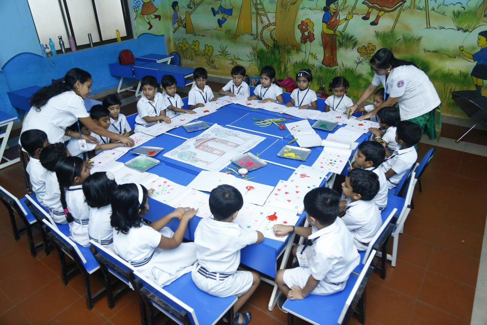 Best-CBSE-School-In-Kerala-KG Experiential Learning - Creative Corner