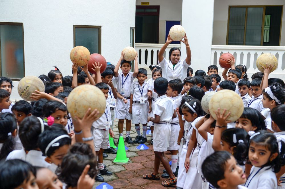 Best-CBSE-School-In-Kerala- KG Experiential Learning - B for Bat and Ball