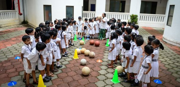 Best-CBSE-School-In-Kerala- KG Experiential Learning – B for Bat and Ball